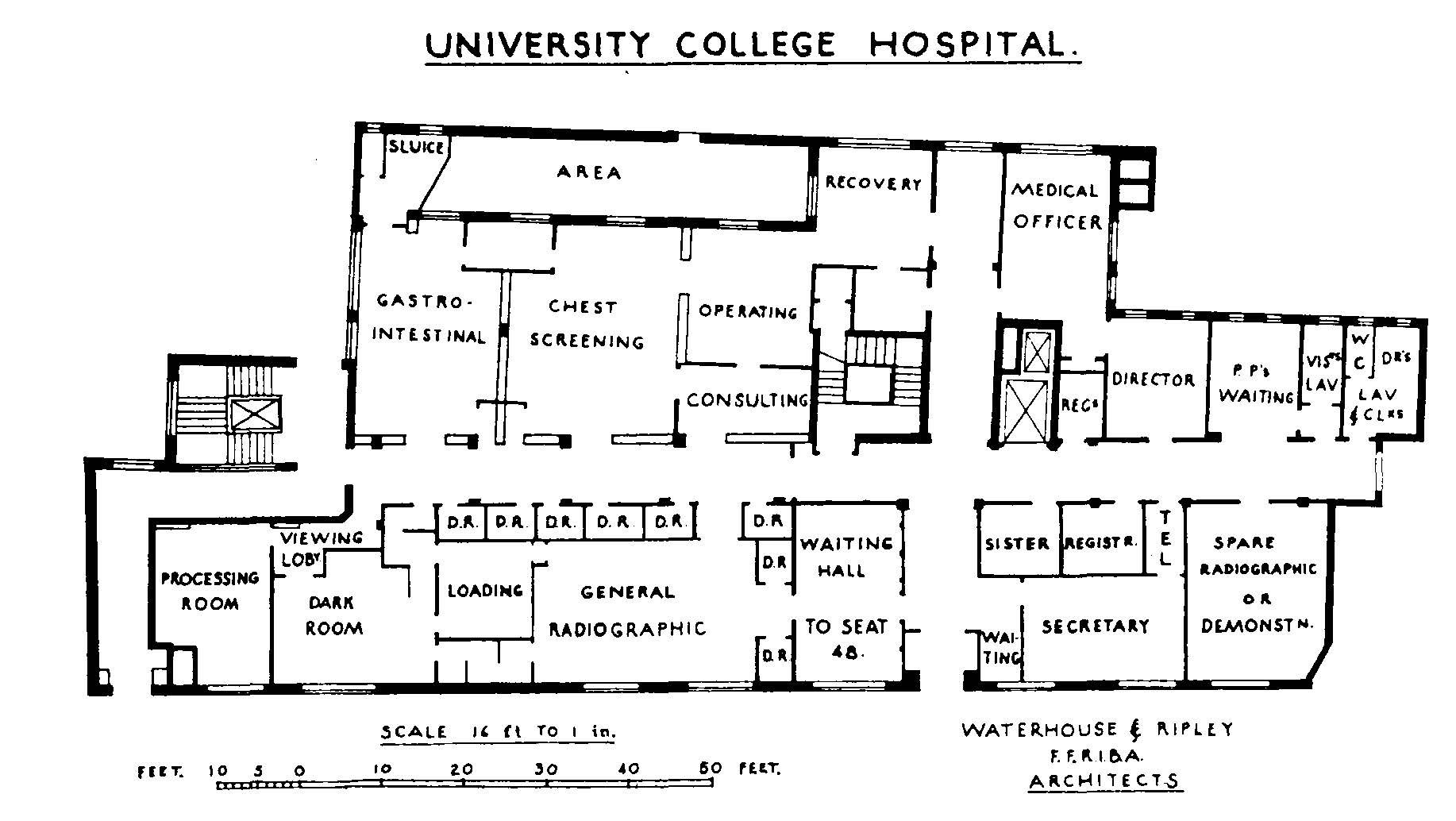 University College Hospital Radiology Department Plan