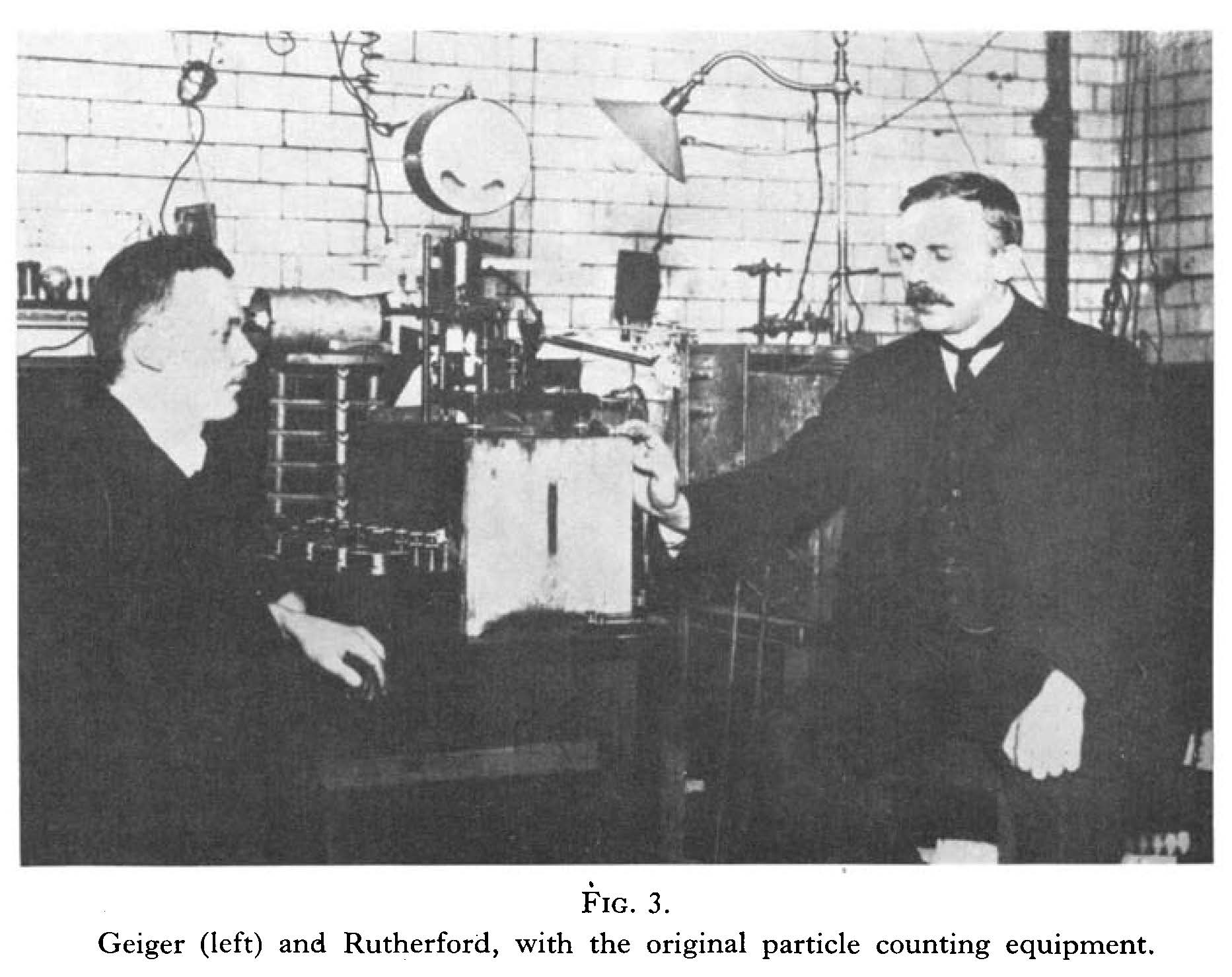Radiotherapy - original particle counting equipment