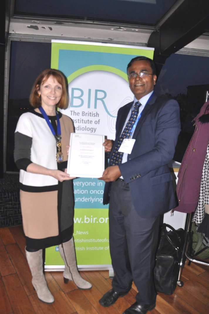 Special award for top BIR educator Dr Gopi Gnanasegaran