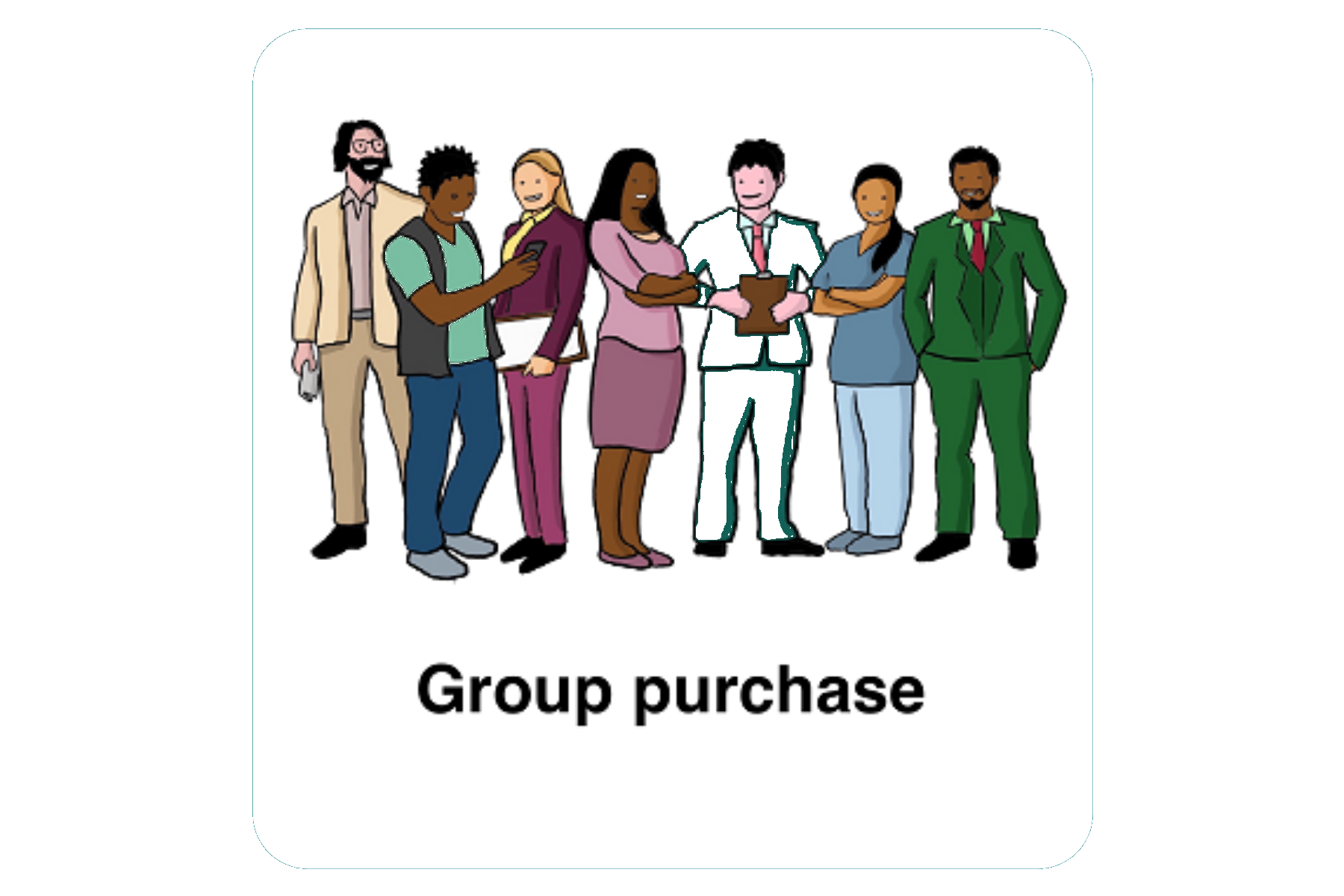 Group Purchase With Rounded Edge